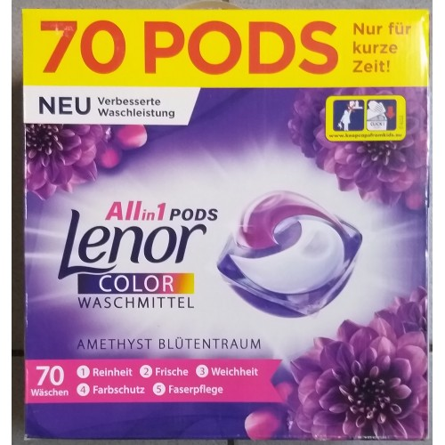 Lenor all in 1 70 capsule color